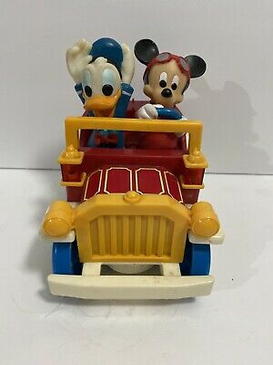 Vintage Mickey Mouse Toys Mickey with Flowers and Mickey in a Car
