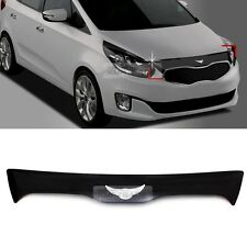 Emblem Glossy Black Front Hood Guard Bug Shield for KIA 2013 - 2016 Rondo Carens