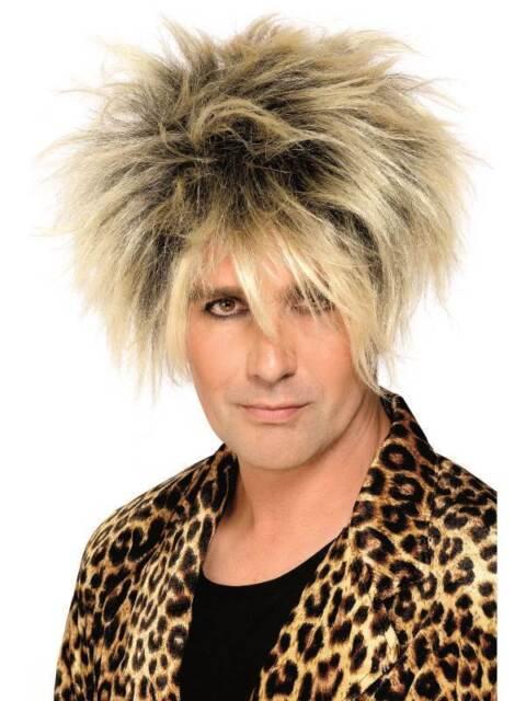Short Blonde Spikey Wig, Wild Boy Wig, 1980's Popstar, Fancy Dress Accessory #CA