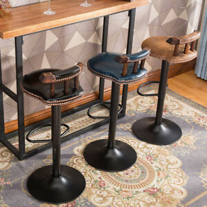 Industrial Vintage Rustic Retro Swivel Counter Bar Stool