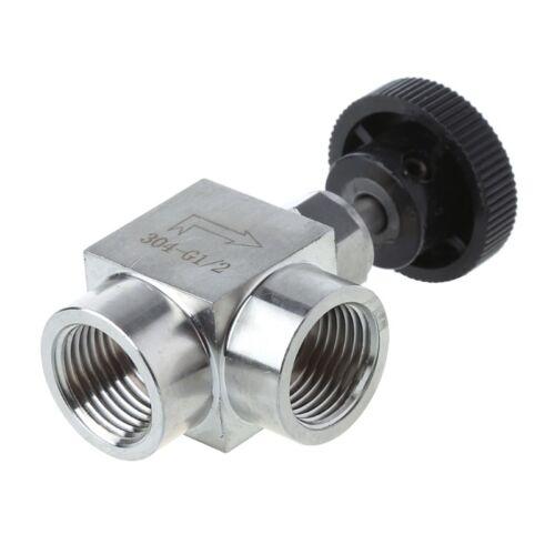 "1//2/"" BSP Female Thread 304 Stainless Steel Flow Control Shut Off Needle Valve"