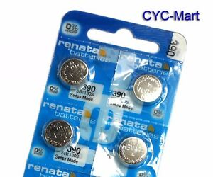 4-pcs-Renata-390-SR1130S-Swiss-Made-Silver-Oxide-Battery-Livraison-gratuite