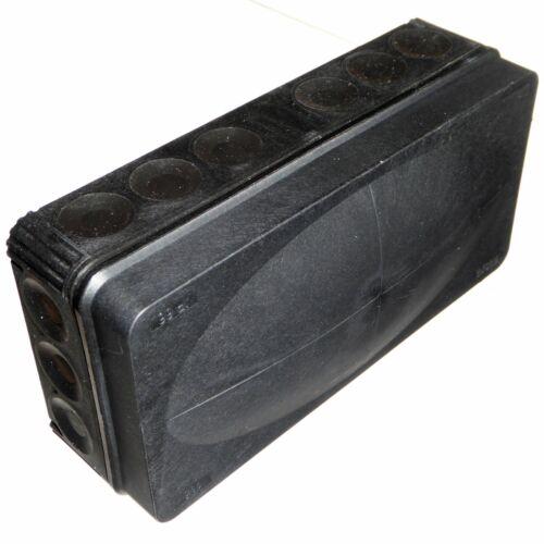 Wiska Combi 116 Black 152mm x 76mm Junction Box Rectangular Weatherproof IP66