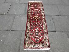 Old Traditional Hand Made Persian Runner Oriental Red Wool Short Runner 175x57cm