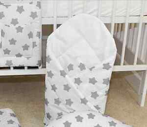 Envoltura-swaddle-Bebe-Recien-Nacido-Manta-Saco-De-Dormir-babymam-grandes-estrellas-en-blanco-gris