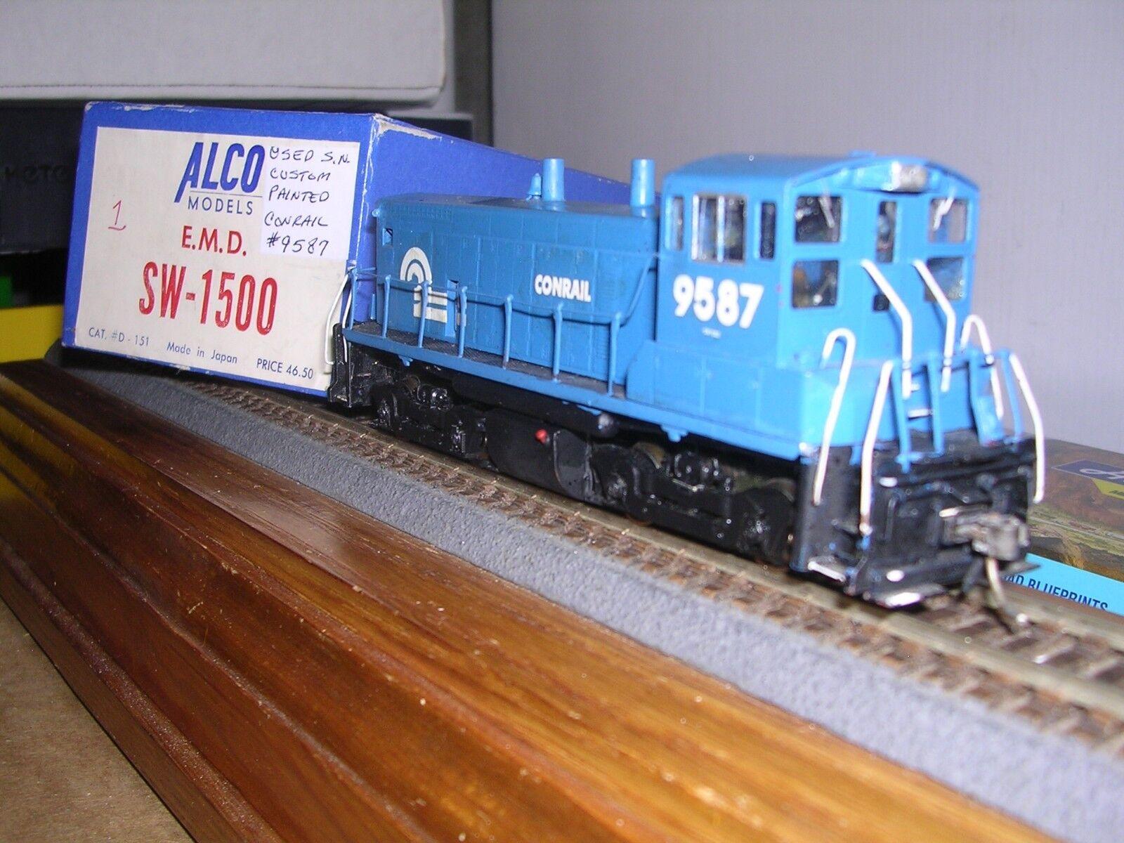 BRASS Alco Models  D-151  Conrail EMD SW-1500 Diesel Loco  9587 H.O. 1 87
