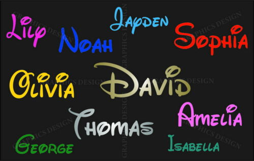 Boys or Girls Name Personalised With Stars Wall Sticker Disney Decal Vinyl Deco