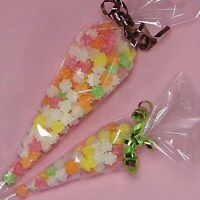 20 Candy Holiday Gift Treat Bags Party Cellophane Cone Clear Plastic 12