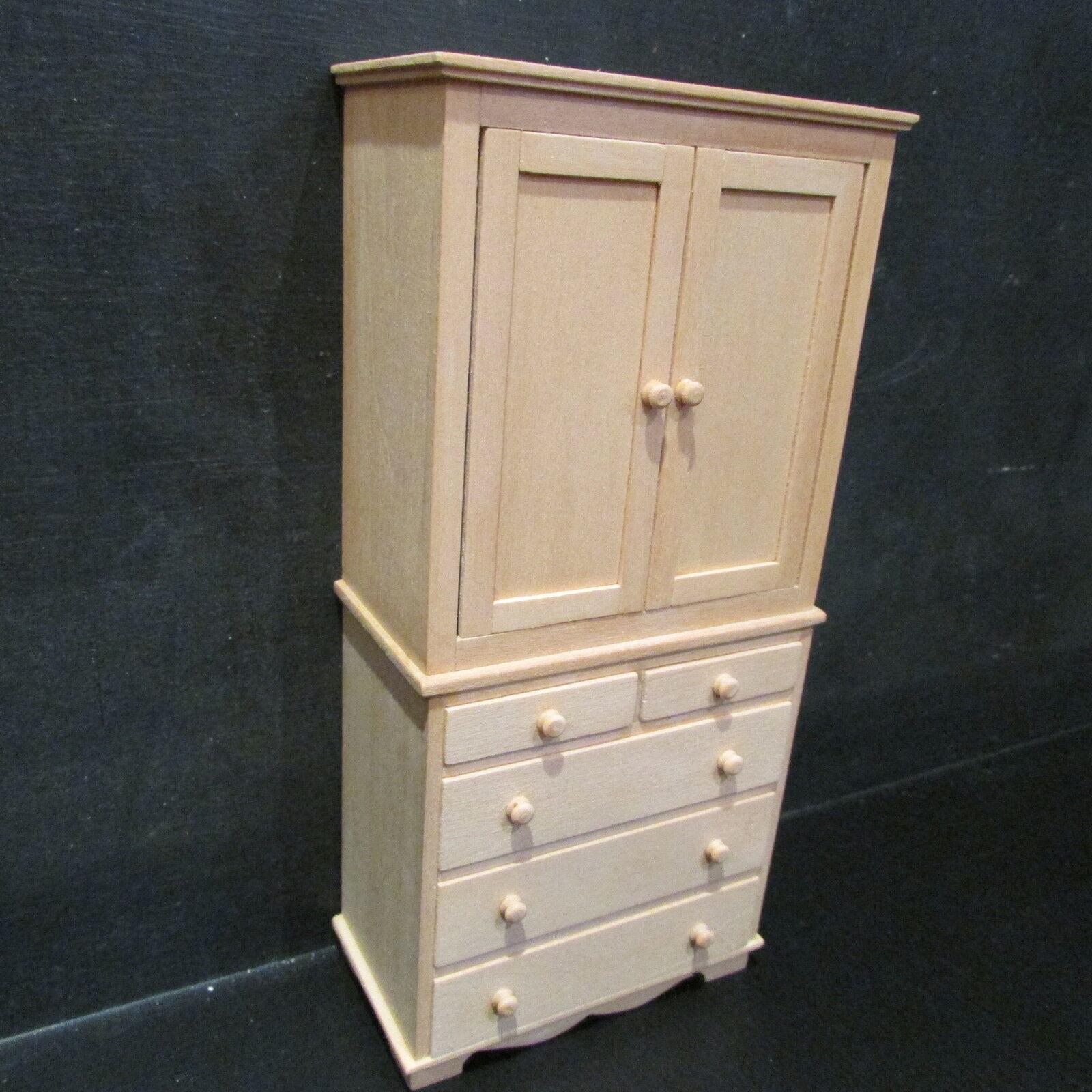 Chambre linge de presse / armoire en bois ~ ~ ~ ~ ~ dollhouse miniature l'échelle 1/12 2952c4