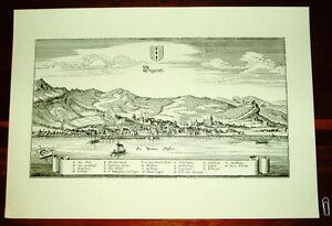 Bregenz-alte-Ansicht-Merian-Druck-Stich-Panorama-1650-Staedteansicht-Vorarlberg