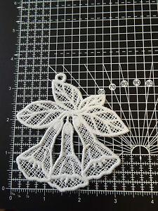 10cm x 9cm Heart Motifs Large,White Guipure Lace,Applique,Trimmings,Wedding