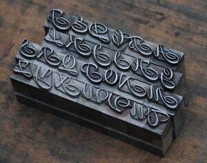 Alphabet-Bleilettern-Vintage-Stempel-Letter-Initiale-Druckbuchstabe-shabby-alt