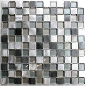Détails sur Carrelage mosaique salle de bain et douche en aluminium et  verre HEHO