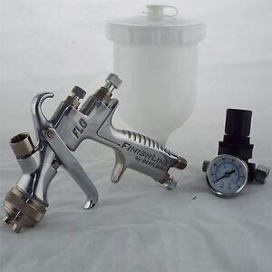 devilbiss flg 5 14 gravity spray paint gun tip pressure regulator 763461634145 ebay. Black Bedroom Furniture Sets. Home Design Ideas