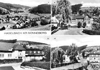 AK, Haselbach Kr. Sonneberg, vier Abb., 1981