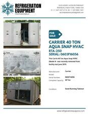 Carrier Air Cooled Chiller 45 Ton Aqua Snap On Sale Chillers