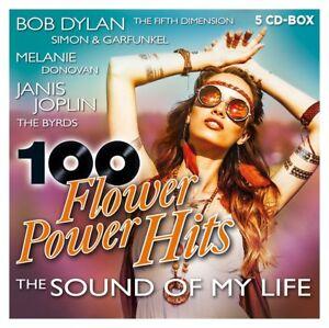 100-Flower-Power-Hits-Bob-Dylan-Jans-Joplin-Simon-amp-Garfunkel-5-CD-NEU