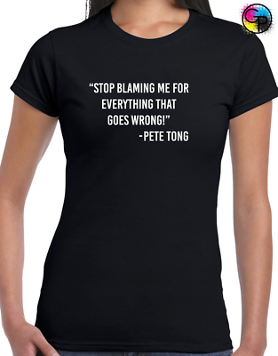 STOP BLAMING ME PETE TONG MENS T SHIRT FUNNY JOKE SLOGAN MUSIC DJ IBIZA HOUSE