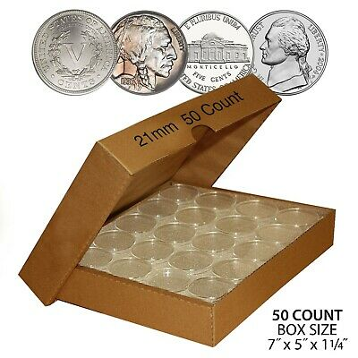Direct-Fit Airtight A18 Coin Capsule Holders For DIMES QTY: 250