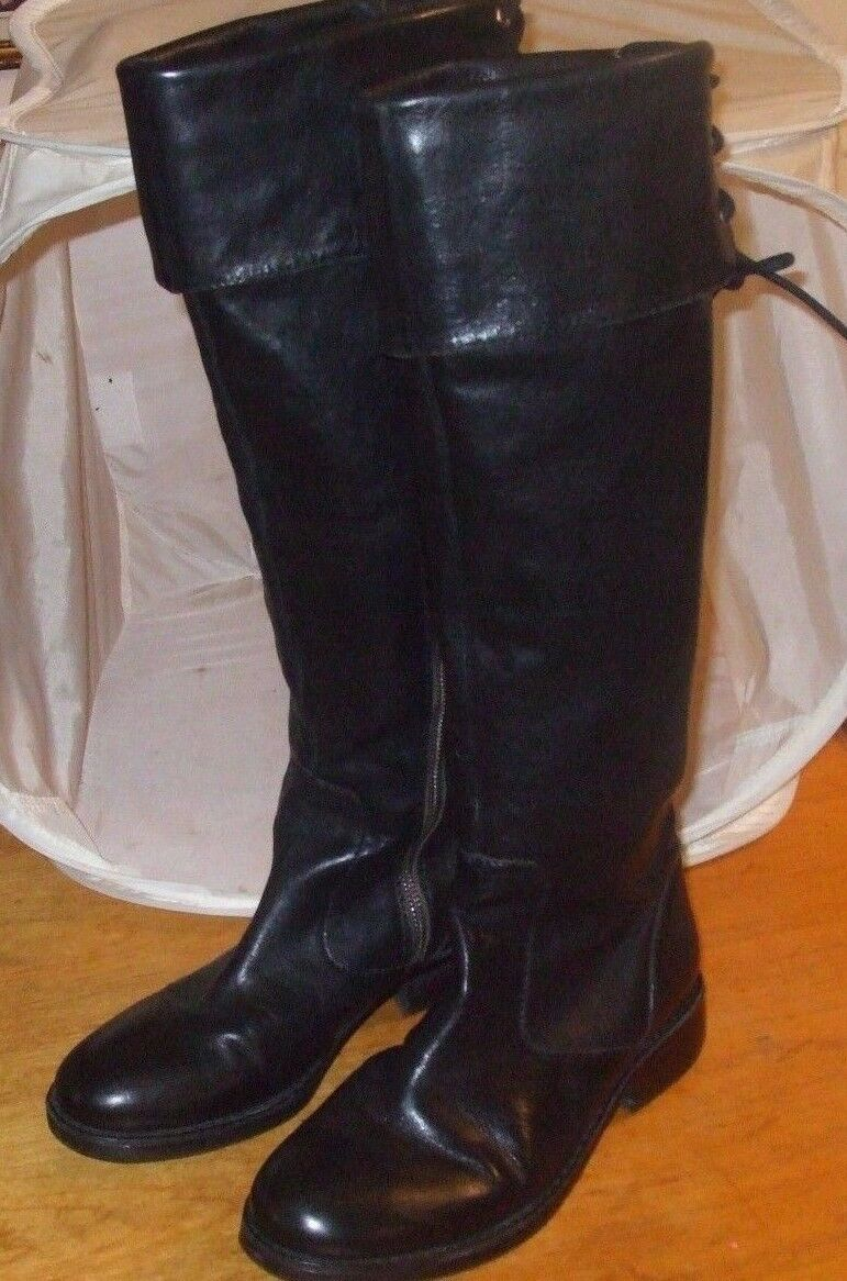 Vince Camuto Size 7 Black Leather Knee High Women's Boots