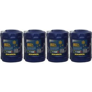 4x-10-Liter-MANNOL-Kuehlerfrostschutz-Typ-G13-Advanced-Antifreeze-40-C-Gelb