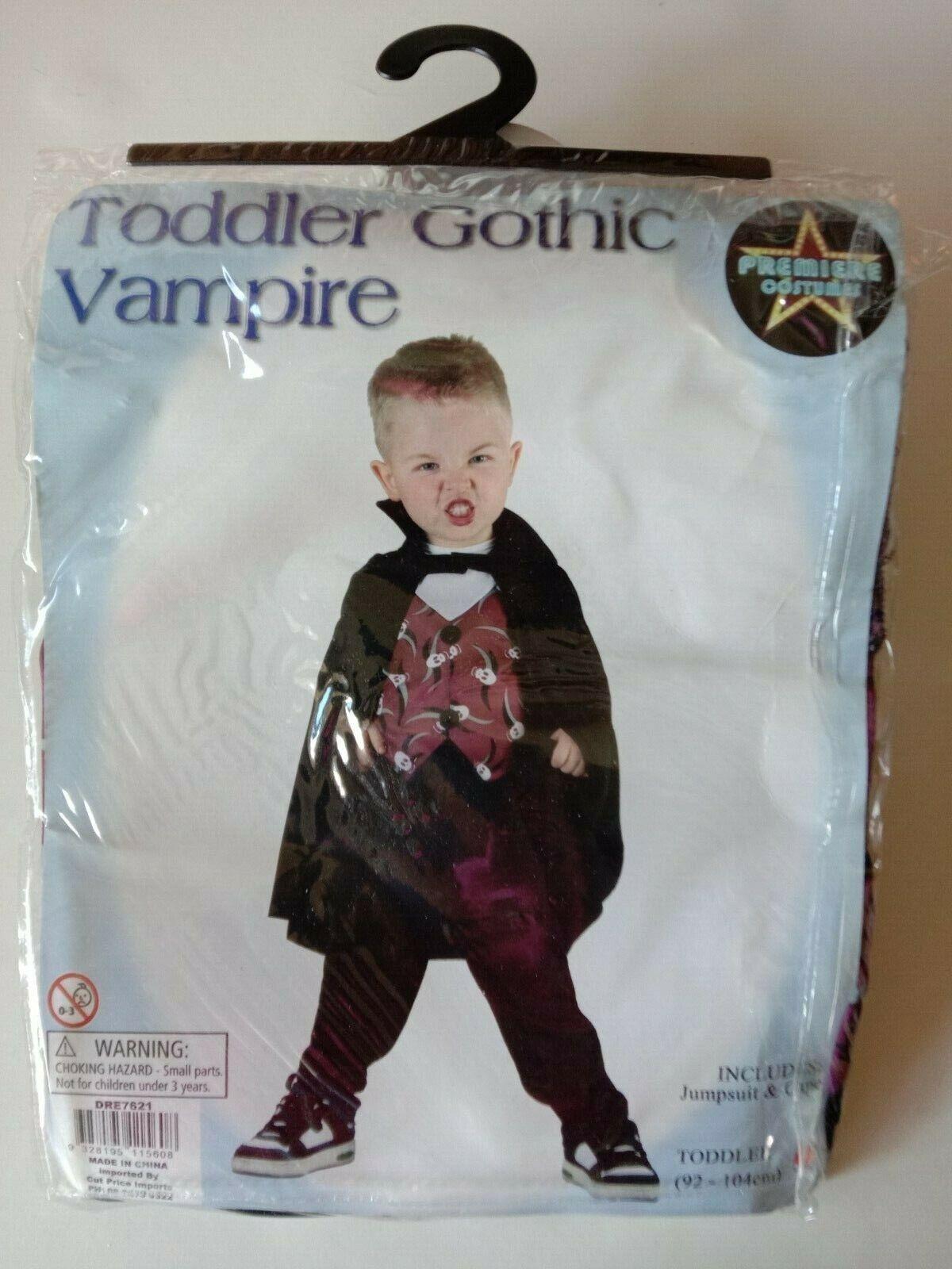 TODDLER GOTHIC VAMPIRE (92-104cm)