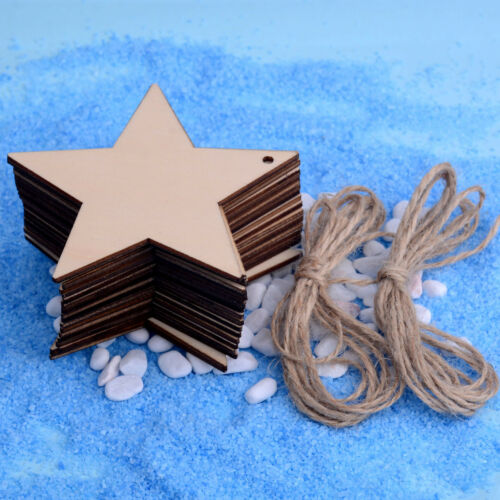 Wooden Christmas Tree Hanging String Decoration Ornament DIY Craft Plain Gift