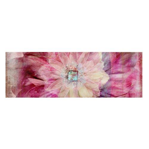 Leinwand Bild Motiv Blüten Gräser Puste Blumen Panorama Weiße Rosen Kunst Druck