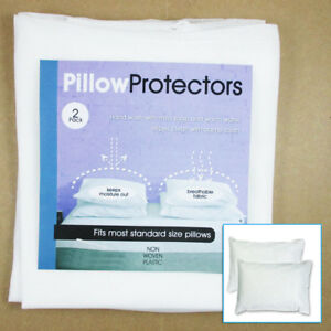 Set-Of-2-Pillow-Protector-Cover-Standard-Size-Pillowcase-Soft-Fabric-Bedding-New