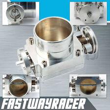 Universal Aluminum Silver 80MM Throttle Body Intake Manifold WRX STI EJ20 EJ25
