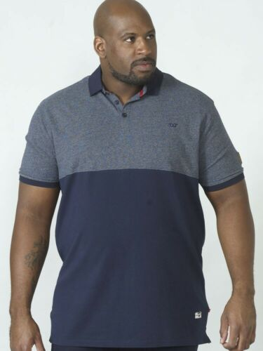 D555 Mens Duke Pique Knit Short Sleeve Polo Shirt Big Tall Plus King Size S-6XL