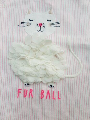 JOULES BABY GIRLS PAULA JERSEY TOP/&LEGGING SET PINK STRIPE CAT RRP £27 BRAND NEW