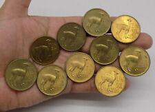 PERU 25 CENT OF SOL DE ORO LLAMA LAMA 1967 COIN LOT OF 10 COINS UNC  Q-67