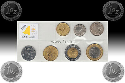 10, 20, 50, 100, 200, 500, 1000 LIRE UNCIRCULATED VATICAN SET 1997-7 coins