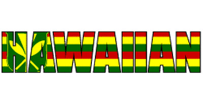 KANAKA MAOLI HAWAIIAN RASTA COLOR Hawaii Decal Car / Truck Window Sticker