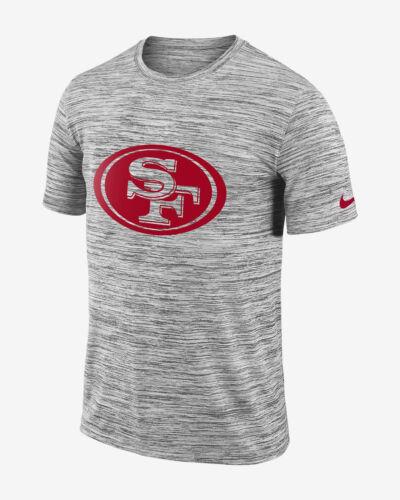Nike Legend Velocity Travel NFL 49ers Men/'s T-Shirt S M 2XL Gray Red Black