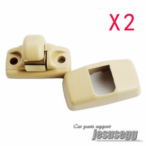 Image Is Loading 2pcs New Beige Sun Visor Clip For Vw