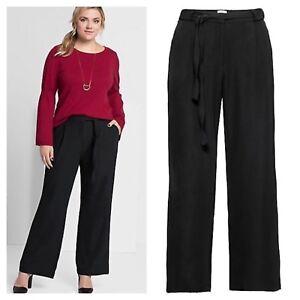 Sheego @ Kaleidoscope Black Stretch Trousers Size 18R