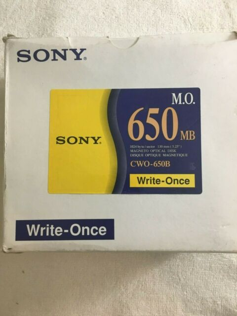 SONY 650MB,  1024 Byte,  Magneto Optical Disk  CWO-650B - New SEALED - Lot of 5.