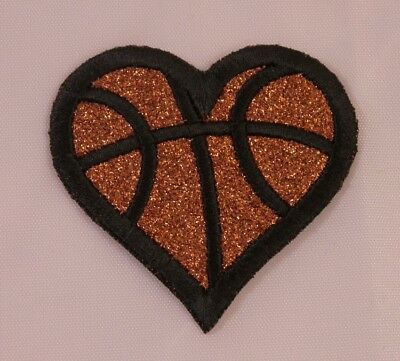 Embroidered Glitter Tennis Ball Heart Love Sport Applique Jacket Patch Iron On