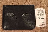 Women's Neiman Marcus Black Leather Card Case Keeper/holder