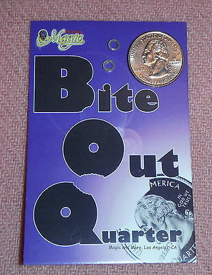 Bite Out Quarter from Royal Magic.  Quality U.S. Coin with Extra Bands (1661)
