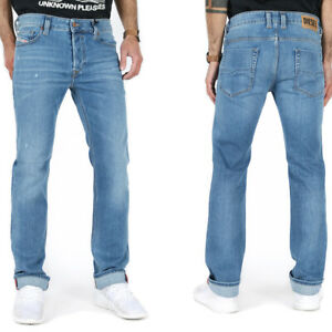 Diesel Herren Regular Slim Straight Fit Stretch Jeans Blau | Safado X 083AX