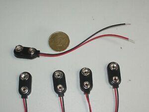 Lot de 5 connecteurs Keystone 2238 pour pile 9V PP3, longueur des fils :10mm