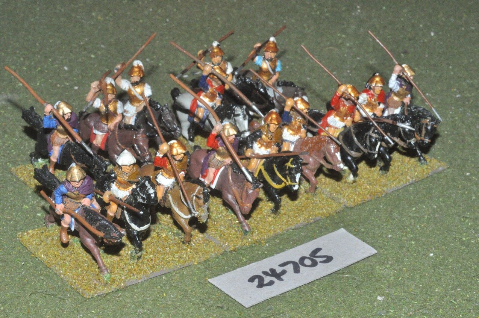 25mm classical   greek - heavy 15 figures - cav (24705)