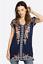 JOHNNY-WAS-Blouse-V-Neck-HEIDI-Tunic-Short-Sleeve-Embroidered-Dress-S-245 thumbnail 8