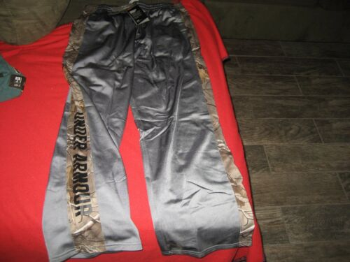 BOYS YOUTH UNDER ARMOUR CAMO HUNT TRACK PANTS SIZE YXL EXTRA LARGE GRAY  NWT