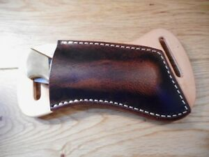 Cross Draw Buffalo Leather Knife Sheath 2 Tone Fits A Buck 110 Or