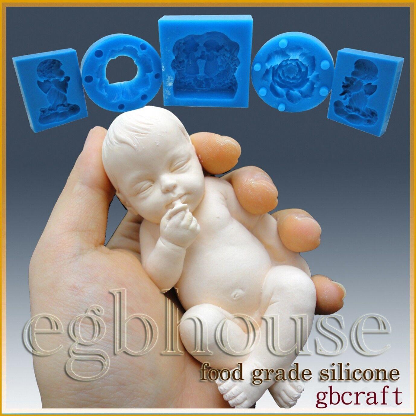 Egbhouse, 3D Silicone Savon Sucre Fondant chocolat Mold-réaliste Bébé Gino