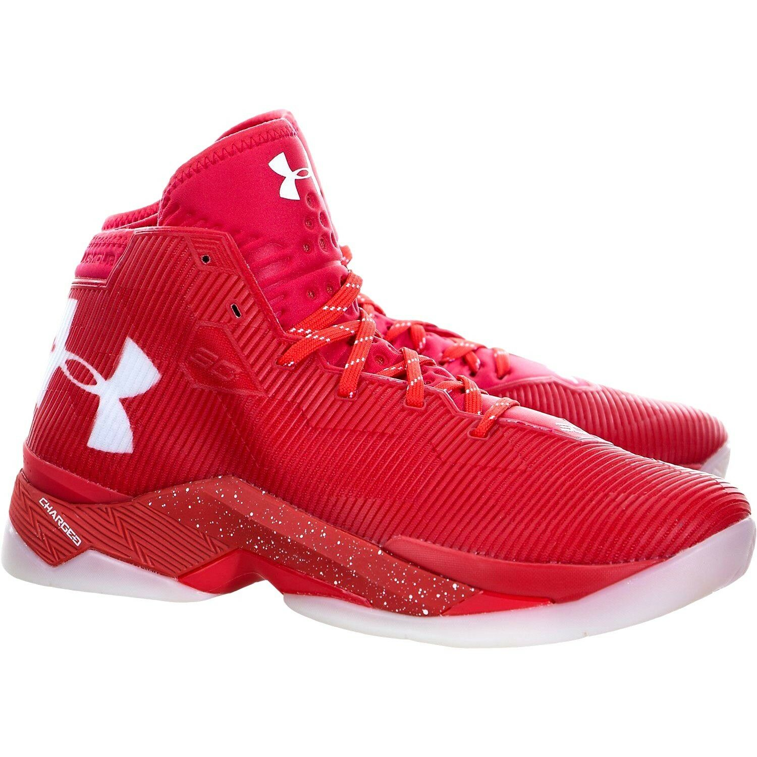 Under Armour Curry 2.5 Rocket Red/White Men's 10 Charged 1274425 984 SC30